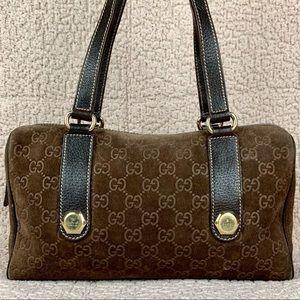 Gucci Bags - Rare Gucci Suede Boston Bag